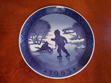 1965 Denmark Royal Copenhagen Little Skaters Plate Kai Lange