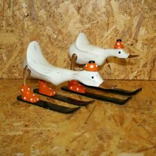 More details for handmade bamboo root skiing duck hand carved fair trade wooden duck - du-602-or