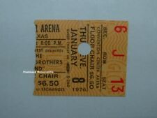Allman Brothers Band 1976 Globe Concert Ticket Stub Fort Worth Tx Center Rare
