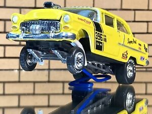 Racing Champions 55 Chevy CUSTOM Gasser-classic Paint-Opening Hood-RR-DETAILED!!