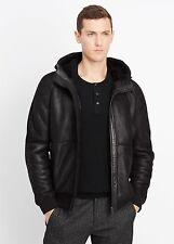 Vince Black Shearling Hooded Jacket - $1,495 MSRP - Size XL - HOT!!!