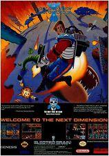 1993 THE LOST DIMENSION 3D Super Nintendo Sega Genesis video game print ad page