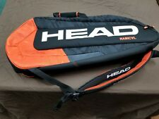 New Head Radical 9R Supercombi Tennis Bag  Black/ Orange
