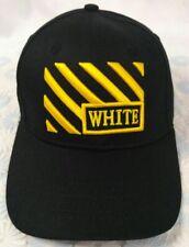 Black OFF WHITE Mens Women Baseball Cap Cotton Snapback Hat - Size Medium