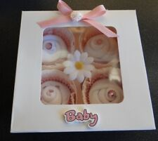 BABY GIRL CUPCAKE SOCKS HAMPER BOX (BABY SHOWER/ MUM TO BE )