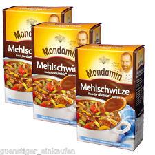 (11,60€/kg) 3x 250g Mondamin Mehlschwitze Basis für dunkle Saucen Gulasch