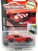 Majorette Dodge SRT Viper Red - White Stripes 1:60 238B Free Display Box