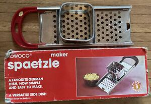 Vintage ROWOCO SPAETZLE MAKER German Noodle Dish w/ Recipe