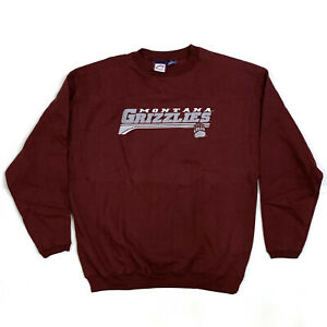 Sweatshirt Adult Long Sleeve MAROON Montana Grizzlies MONT-31 SIZE: X-Large