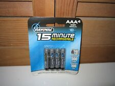 RAYOVAC IC3 15-Minute 800mAh NiMH AAA Batteries IC3724-4, NEW in SEALED 4-Pack
