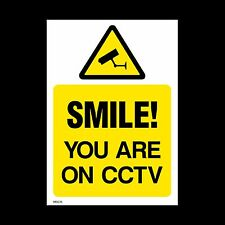 CCTV Window Sticker, Sign - 150mm x 200mm (A5) Security, Camera (MISC16)