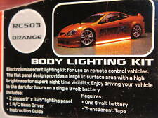 New Orange R/C Car Neon Body Light Kit Tamiya/HPI/Ansmann Drift