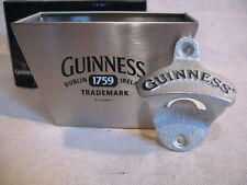 Guinness Wall Pub Bar Bottle Opener & Cap Catcher