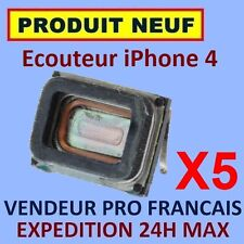 ✖ LOT DE 5 MODULES ECOUTEURS HAUT PARLEUR INTERNE IPHONE 4 4G ✖ NEUF GARANTI 24H