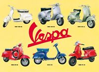 Vespa Montage scooter Steel Wall Sign 410mm x 300mm   (fd)