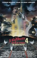 NIGHTMARE ON ELM STREET 4 THE DREAM MASTER Movie Poster Horror FREDDY VHS Rare