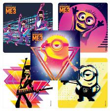 "25 Despicable Me 3 Stickers, 2.5"" x 2.5"" each, Party Favors"