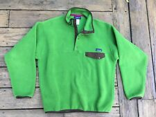 SOFT Patagonia Synchilla Snap-T Fleece Pullover Size M Jacket Green $139