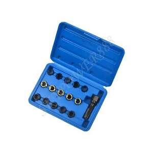 16 Pcs M14x1.25 Spark Plug Rethread Thread Repair Tools Kit