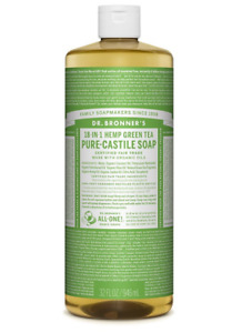 Dr Bronner Green Tea Castile Liquid  Body Soap - 946ml