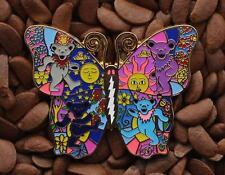 Grateful Dead pins Butterfly lighting bolt pin BEAR dance sun flower moon Gold