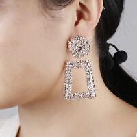 Zarcillos Nuevos mujer plata geométrica declaración pendientes Moda Fashion.