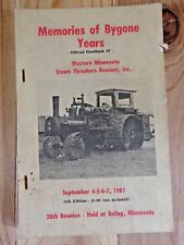 Handbook of WESTERN MN STEAM THRESHERS REUNION 1981 Rollag Minnesota