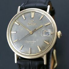 Rare 1964 Omega Seamaster De Ville Automatic 14K Gold & Steel Project Watch, NR!