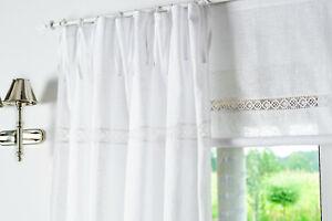 Julia weiß Gardine Vorhang Romantik Shabby chic landhausstil 2 St. 145x250cm