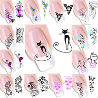 50pcs 3D Flower Design Nail Art Manicure Tips Stickers Decals DIY Decoration