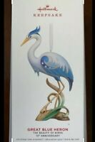 Hallmark 2019 The Great Blue Heron Beauty of Birds 15th Anniv Christmas Ornament