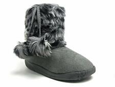 Toddler Kids Baby Girl Animal Print Faux Fur Winter Boots Pom Poms Size 5 - 10