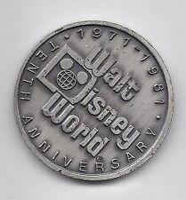 1981 Walt Disney World Commemorative Coin Rare 10th Tencennial Vintage