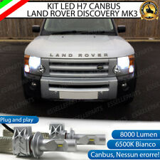 KIT LED H7 CANBUS LAND ROVER DISCOVERY 3 LED LUXEON 8000 LUMEN ANABBAGLIANTI