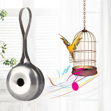 Funny Parrot Pet Bird Stainless Steel Whistle for Bird Training Interactive Toys