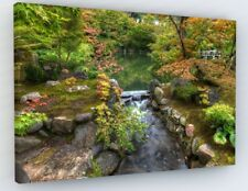 JAPANESE GARDEN LANDSCAPE ZEN CANVAS PICTURE PRINT CHUNKY FRAME LARGE #A74