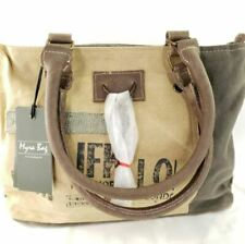 NEW Myra Bag SMALL Upcycled Canvas Leather Purse Handbag Travel Vintage Fashion