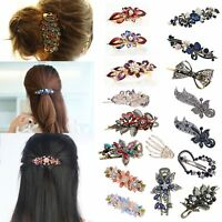 Women 32 Styles Retro Crystal Rhinestone Bow Flower Hairpin Hair Clip Hair Stick