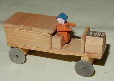 Miniatur LKW Laster Holzspielzeug Seiffen Olbernhau Erzgebirge alt 1930-50