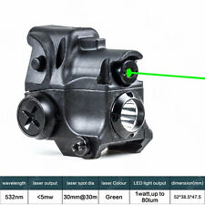 Hunting Green Laser Sight Scope LED Flash Light Torch Combo 532nm