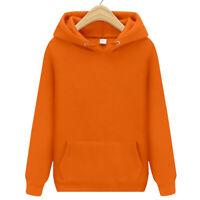 Hot Men Women Hoodie Sweater Hip-hop Skateboard Solid Sweatshirts Pullover Coat