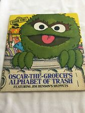 SESAME  STREET OSCAR THE GROUCH ALPHABET  OF TRASH BOOK & RECORD