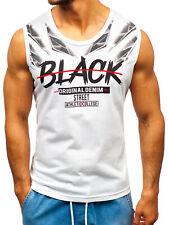 Tanktop Tee T-Shirt Achselshirt Muskelshirt Sport Aufdruck Herren BOLF 3C3 Print