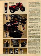 1984 ADVERT Remote Controll RC 3 Wheel Cycle Black Firebird Cannon A Team Van