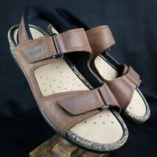 880681874f89 Ecco Women s Brown Duo Leather Strap Sandals Size US 10 - 10.5 Shock Point  Shoes
