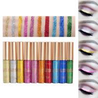 10 Colors/Set Shimmer Eyeshadow Waterproof Glitter Liquid Metallic Eyeliner H