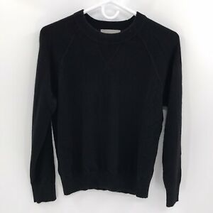 EVERLANE 100% Cashmere Black Long Sleeve Crewneck Sweater Pullover Women's M