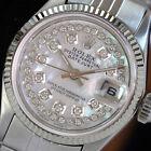 Rolex  Vintage Womens Datejust 26mm White MOP Diamond Dial Fluted Bezel Watch