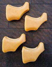 BRAKE HOODS for CAMPAGNOLO BRAKE LEVER - BROWN GLOBE LOGO - 2 PAIRS