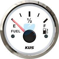 KUS Marine Fuel Level Gauge Boat Oil Tank Level Indicator 12/24V 52mm 240-33ohms
